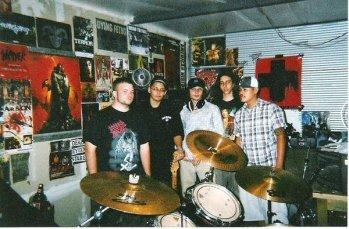 Fr. L: Derrick, Ray, Hobart, Matt, & Phillip. Rehearsal space. Stockton, CA 2004