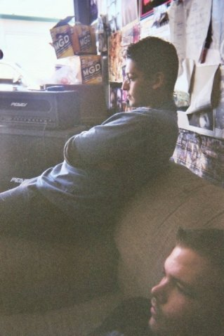 Fr. L: Ray & Derrick. Before heading into Castle Ultimate Studios. Fall of 2003.