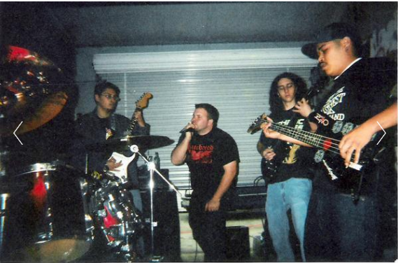 Fr. L: Ray, Derrick, Matt, & Phillip. Rehearsal space. Stockton, CA 2003.
