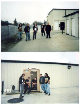 Held In Scorn. Rehearsal space. Stockton, CA 2003.