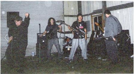 Fr. L: Derrick, Matt, Hobart (Drums), Phillip & Ray. Murphy's, CA. Winter 2003.